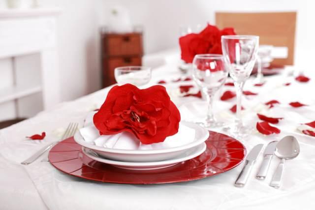 arreglos mesa fiesta San Valentín