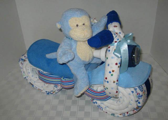 baby shower recuerdo grande mona moto toallas