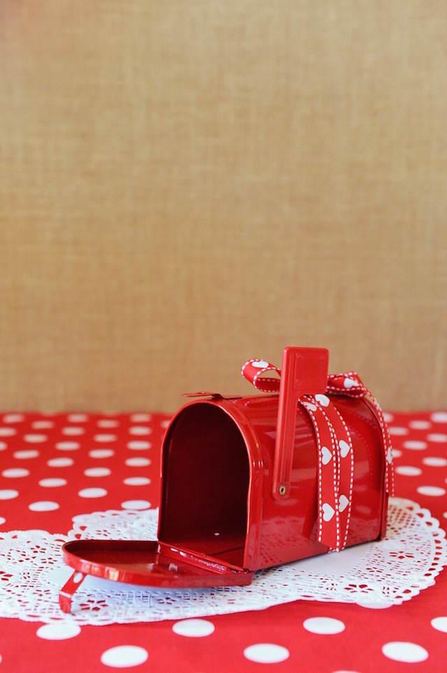 caja de deseos roja decoración 14 de febrero