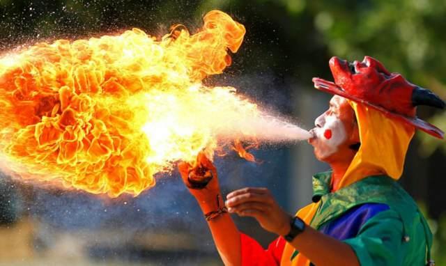 Colombia carnaval de Barranquilla precioso fuego