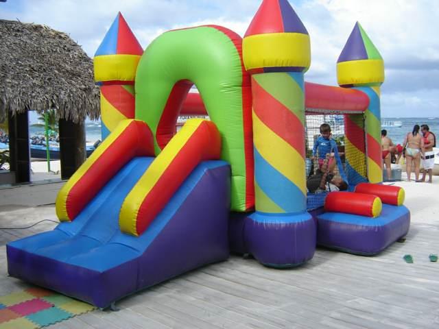 un castillo inflable juegos niños