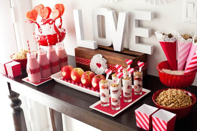 catering bebidas temático día de los enamorados