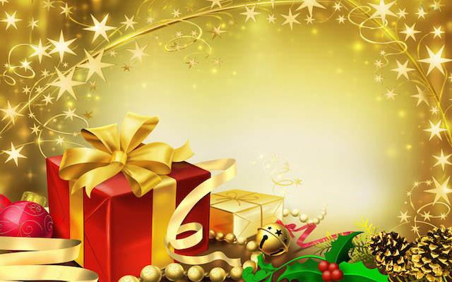 celebración Navidad decoración color dorado moderno