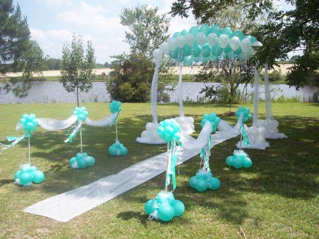 ceremonia boda decoración tierna globos