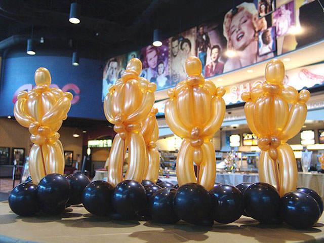 ceremonia premio Óscar adornos de globos estatuilla