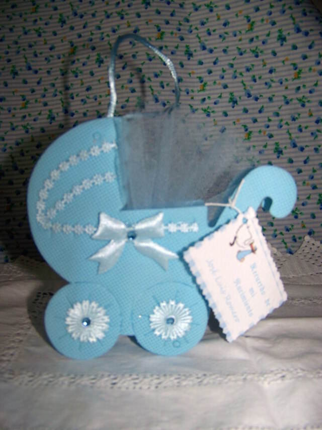 cochecito precioso azul regalo baby shower