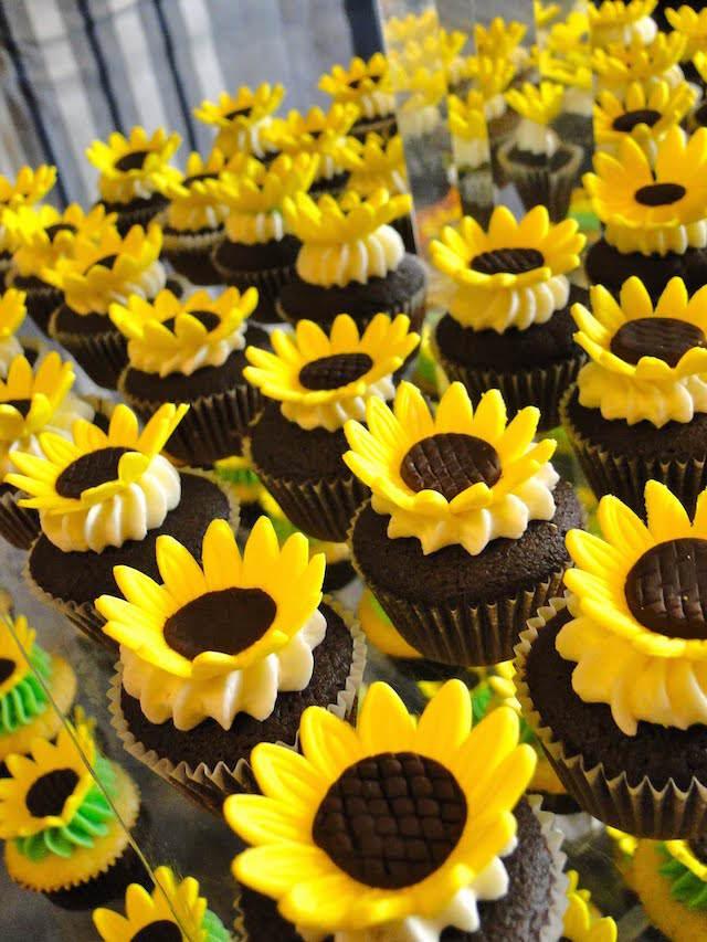 cupcakes decoradas girasoles maravillosa elaboración