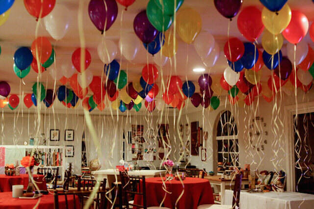 decoración divertida atmósfera globos