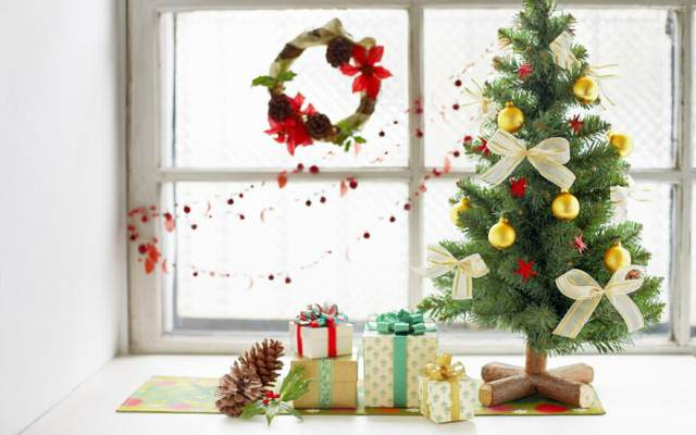 una decoración árbol Navidad