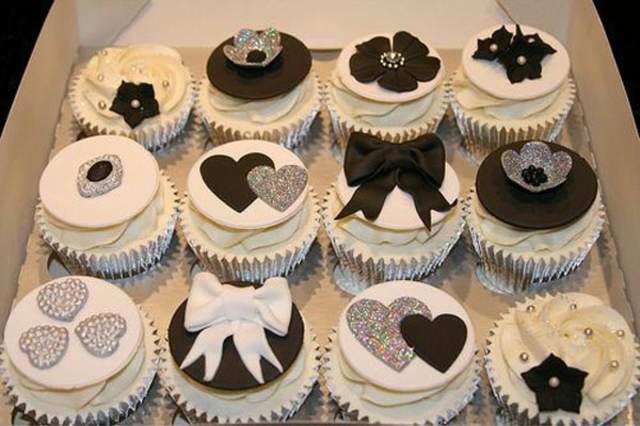 decoración de cupcakes originales colores formas elegantes