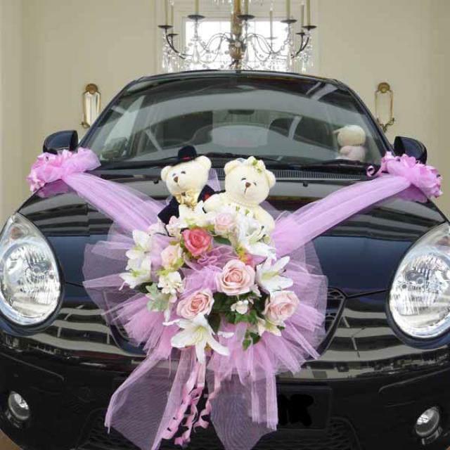 decoración interesante flores de papel juegos coche