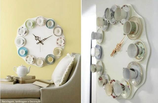 decoración hogar tendencias nuevas reloj original