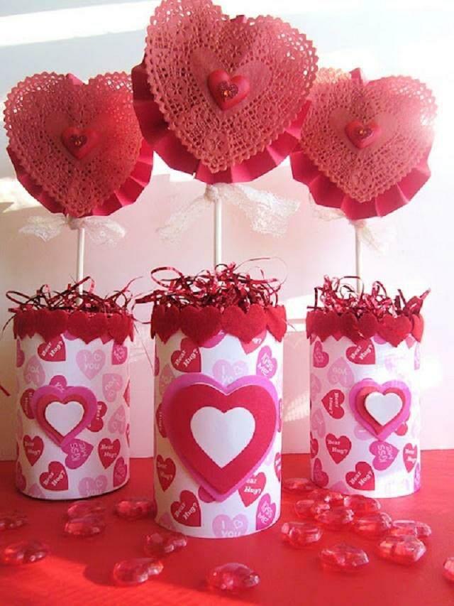 decoracion preciosa mesa día San Valentín
