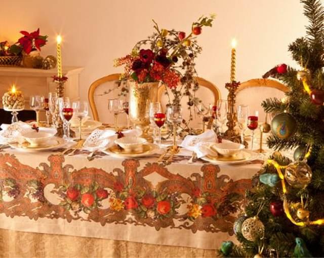 decoraciones navideñas una mesa preciosa