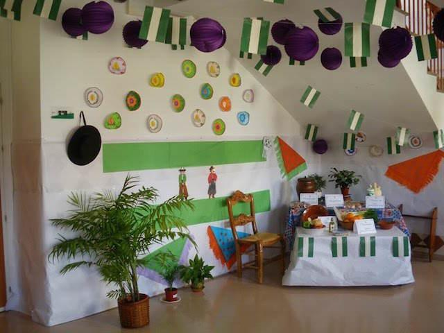 día de Andalucía preciosa decoración habitación