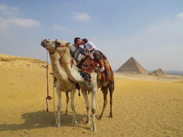 día de San Valentín 2015 Egipto camello