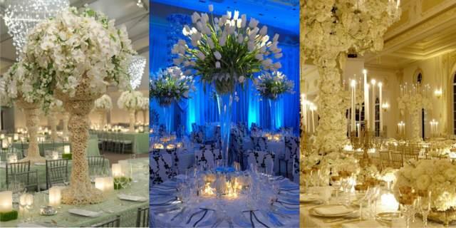 diseños preciosos centros mesa arreglos florales eventos corporativos