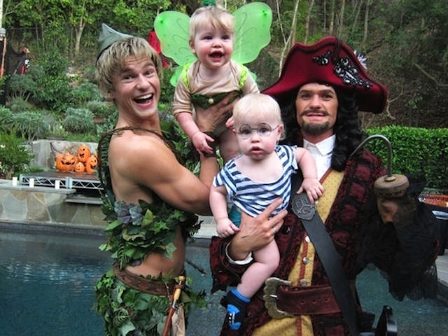 disfraces originales Neil Patrick Harris como Peter Pan