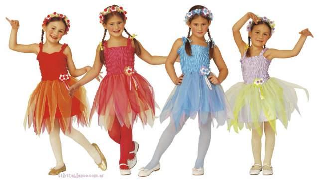 disfraces originales niñas hadas colores diferentes