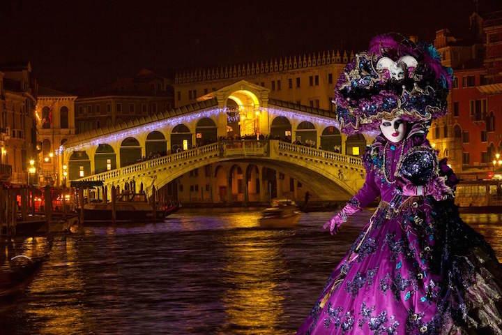 disfraz precioso lila Venecia Gran Canal