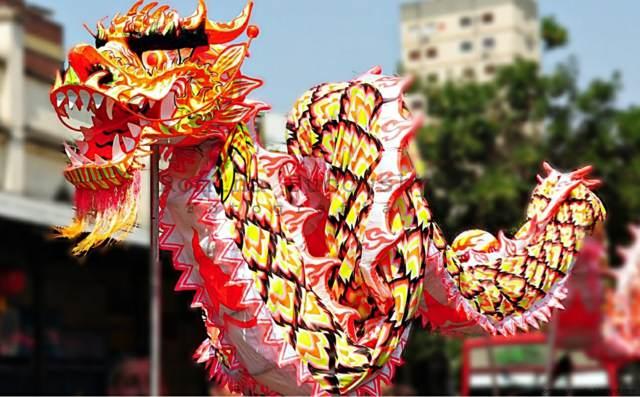 dragón año nuevo chino símbolo famoso