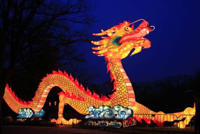 el dragón símbolo famoso Año Nuevo chino