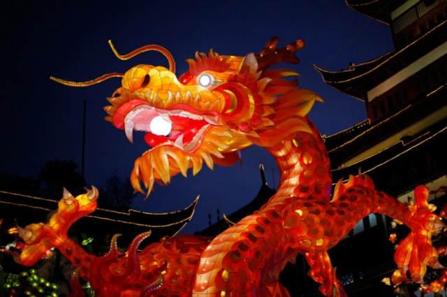 dragón símbolo famoso año nuevo chino