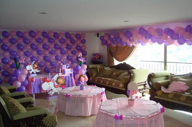 entera decoracin globos cumpleaos infantil nia