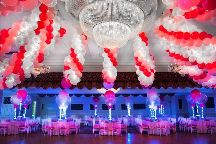 evento corporativo oficial adornos de globos preciosos