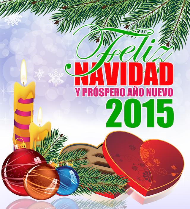 feliz Navidad próspero Año Nuevo 2015 felicitaciones