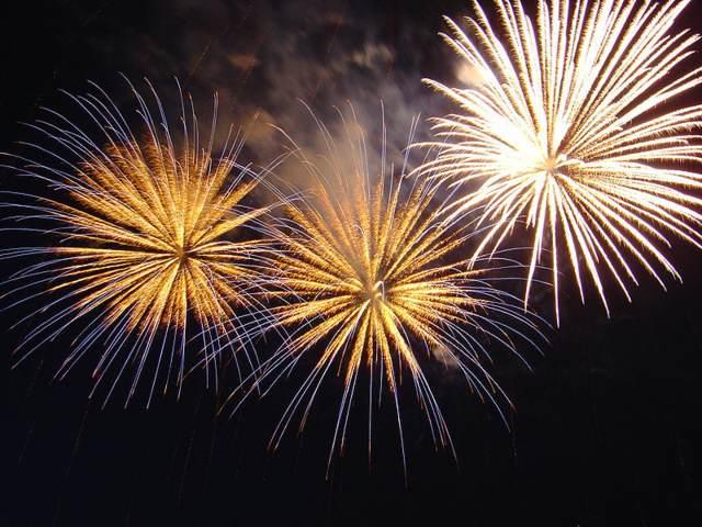 feliz ano nuevo fuegos artificiales