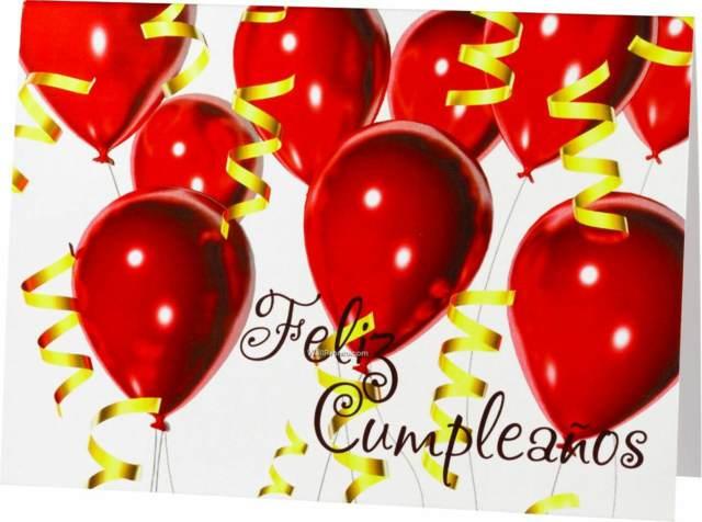 día de cumpleaños decoración globos rojos
