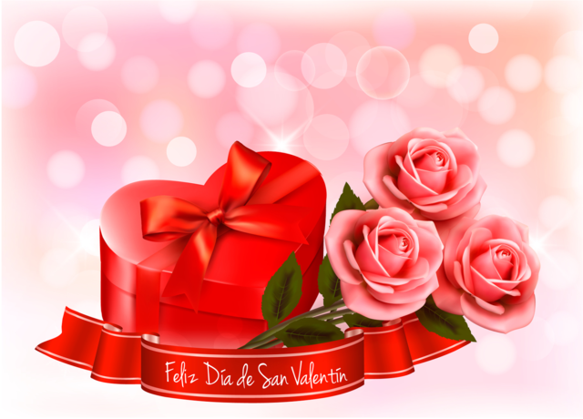 feliz día San Valentín 14 febrero rosas corazones