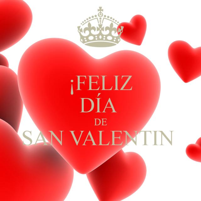 felicidades San Valentín corazones flores