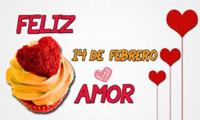 día de enamorados 14 febrero día de San Valentín