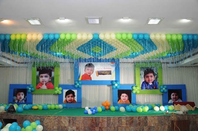 fiesta infantil decoración maravillosa globos
