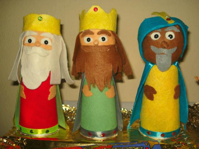 fiesta temática tema Reyes Magos decorar figuras originales