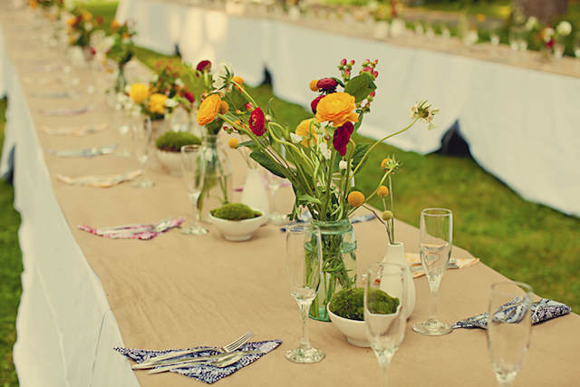 flores amarillas acento tierno decoración boda