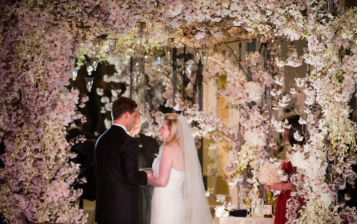 flores de papel decoración preciosa boda