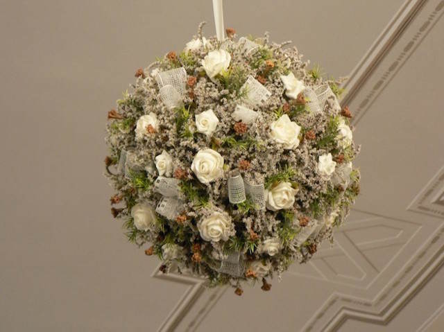 flores de papel decoración elegante suntuosa