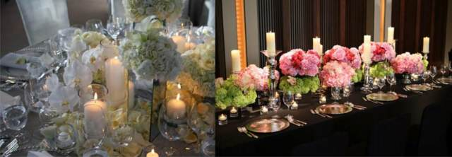 flores hermosas decoración elegante centros mesa eventos corporativos