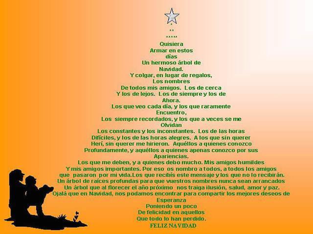 frases de Navidad árbol navideño mensajes cariñosas amigos