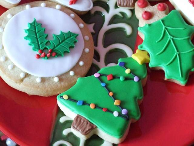 galletas decoradas forma árbol Navidad