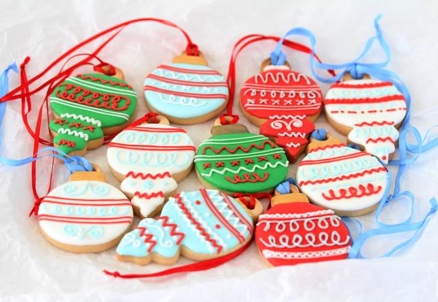 galletas forma bolas Navidad