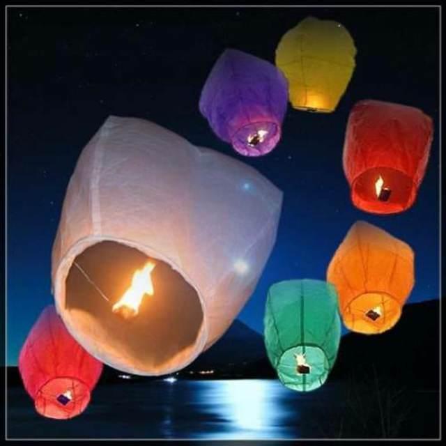 globos cantoya colores diferentes ideales eventos aire libre