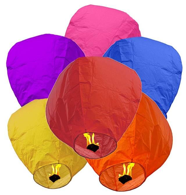 globos de cantoya colores diferentes deseos fiestas