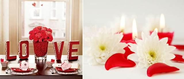decoración ideas mesa día San Valentín