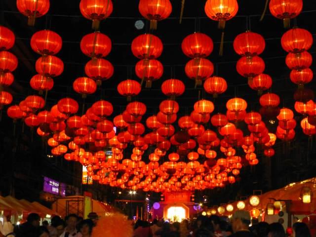 las linternas Año Nuevo chino