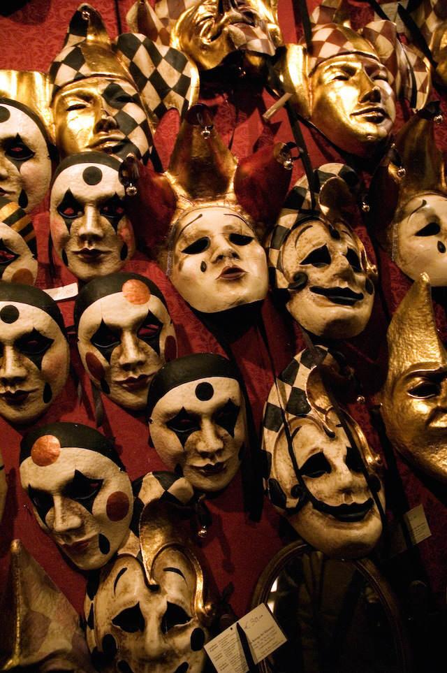 máscaras clásicas carnaval de Venecia