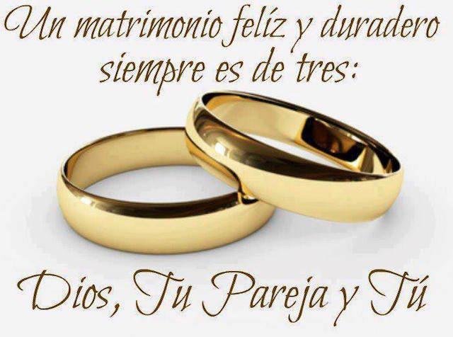 matrimonio feliz tres Dios tu pareja